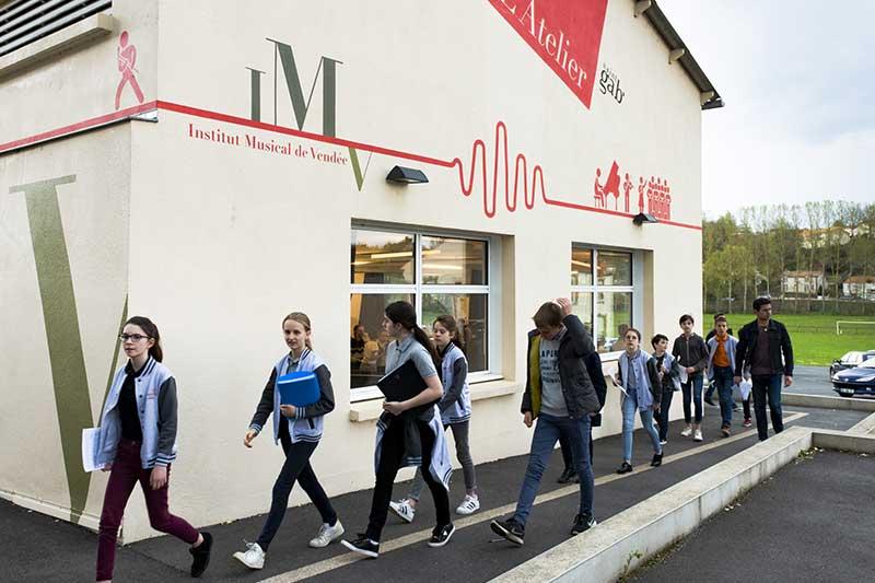 Le bâtiment de l'IMV au lycée St Gab en Vendée
